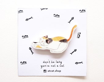 Breezy Acrylic Pin - Brooches - Cat Gifts