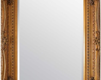 Carved Somerset 122 x 92 4ft x 3ft Mirror Gold