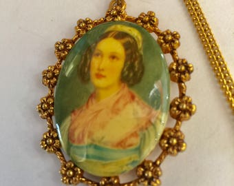 Victorian Cameo Reproduction Necklace