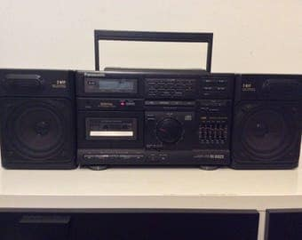 Vintage Panasonic Boombox Ghetto Blaster Detachable Speakers Aux Input RX-DS620
