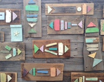 Barn board fish