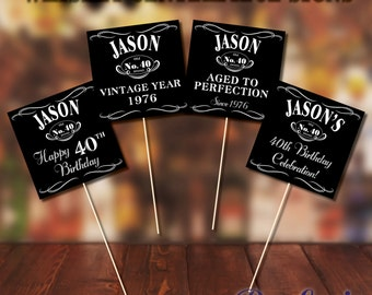 Whiskey Theme Centerpiece Signs!
