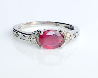 ruby ring ruby engagement ring natural ruby ring ruby wedding ring genuine - Ruby Wedding Ring