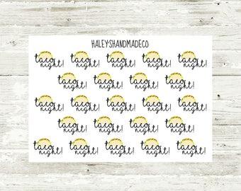 Taco Night Stickers