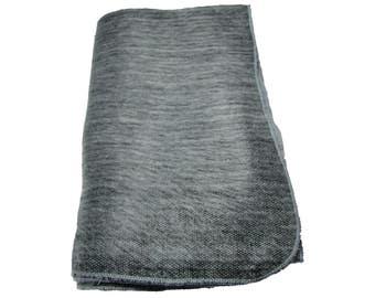Indigenous Made in Ecuador Luxurious Alpaca Style Blanket in Gray