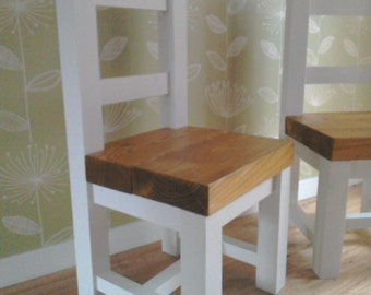 Rustic dining kitchen chair