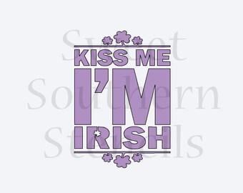 Kiss me I'm Irish Cookie Stencil