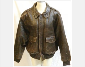 Retro 90's Men's Brown Leather Bomber Jacket