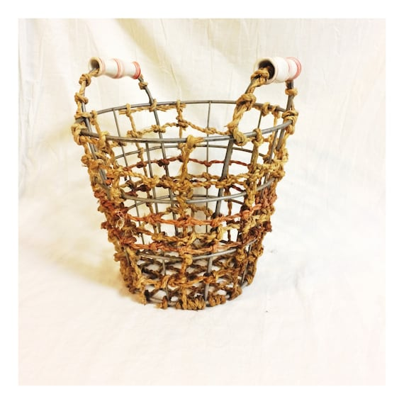 Cottage Style Basket for Holding Books at Pretty Poppies Vintage
