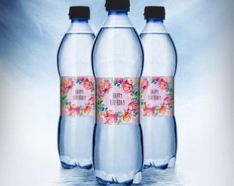 Secret Garden Water Bottle Labels