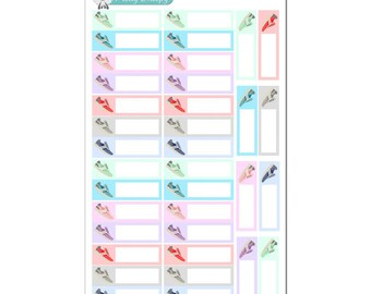 Running Shoes Boxes - Fitness Planner Stickers