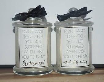 Bridesmaid Proposal Box - Bridesmaid Proposal - Bridesmaid Candle - Will you be my bridesmaid - Bridesmaid Gift - Personalized box -