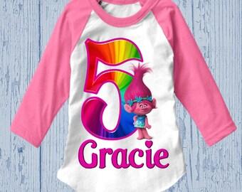 Trolls Birthday Shirt - Poppy Tank Top Available