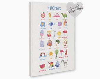 Personalized Nursery Decor, ABC nursery decor ideas, Alphabet Animals, Kids Room Decor, Alphabet Nursery, best nursery decor