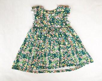 Quinn dress | Bizzy Bean Clothing|  knit dress, flower dress, ruffle dress, summer dress, spring dress