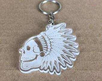 Laser Cut / Chief Skull / Keychain