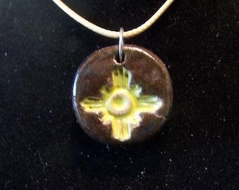 Ceramic Charm w/ necklace