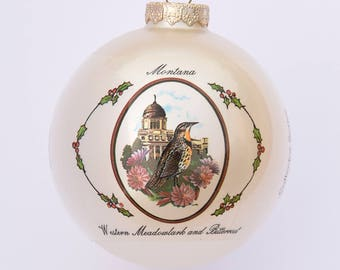 Montana - Ornament with Art by W.D. Gaither