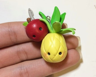Penapple Apple Pen (PPAP)- Polymer Clay Charm