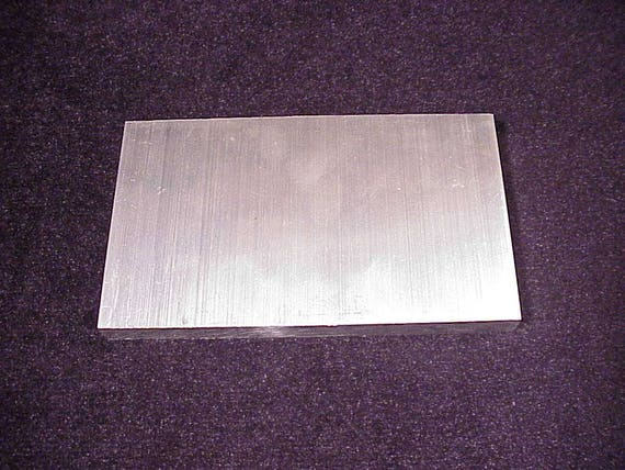 Small Rectangular Aluminum Flat Sheet Metal Piece 5 1 8 X