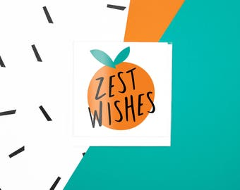 Zest Wishes Gift Note