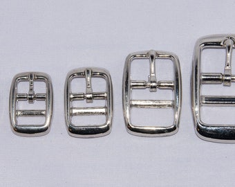 """Double Bar Buckles - 3/8"""", 1/2"""", 5/8"""", 3/4"""" and 1"""" sizes"""