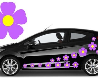 20, lilac flower car decals,stickers in three sizes