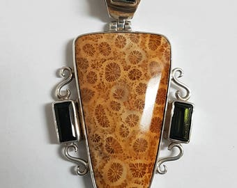 Fossil Coral Pendant #1