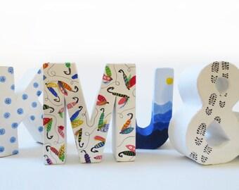 Custom Painted Letter - Personalized Monogram - Decorative Letter