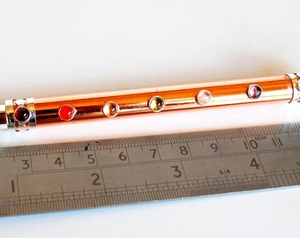 Copper And Clear Quartz Crystal Chakra Wand Stick