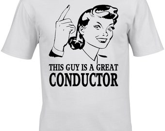 Conductor Mens T-Shirt - Gift Occupation Music Musician Instrument Composer Classical Orchestra Band Woodwind Strings Jazz
