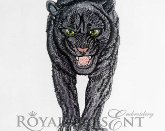 Machine Embroidery Design Black panther - 4 sizes