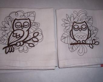 Brown owls Kitchen Towels