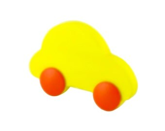 Boys cabinet knobs and pulls Nursery drawer knobs Yellow dresser drawer handles Yellow car knobs Wardrobe car handles Nursery car room decor