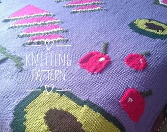 Knitting PATTERN - Fruit In A Blanket