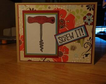Corkscrew card