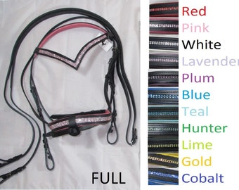 English Bling Bridle Many colors
