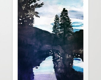 Reflections from Virginia Homestead Watercolor Giclee Print