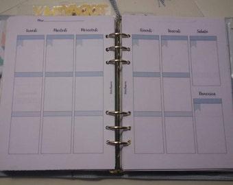 Week Planner A5/Large Refill perpetual weekly undated