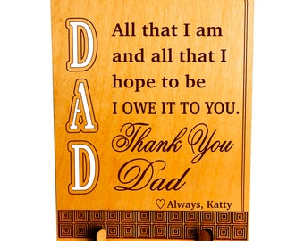 Thank You Dad Gift,Dad Appreciation Keepsake Gift, Son to Dad Gift, Daughter to Dad Gift, Gift to my Father,Dad Appreciation Gift, pld013