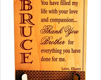 Brother Keepsake Plaque, Big Brother Gift, Gift for Brother, Sister to Brother Gift, Sibling Gift, Christmas Gift for Brother PLB023