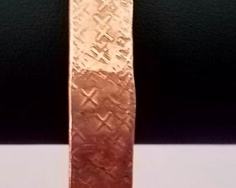 Copper Bangle with Hammered Textured Design