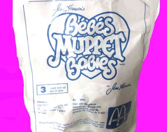 McDonald's Toys, GONZO Muppet, 1986 Muppet Babies McDonald's Toy, vintage toys, Gonzo, Gonzo on tricycle, UNOPENED, NEW condition, Muppets