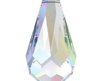 Swarovski Crystal - 6000 Tear Drop Top Drilled - Crystal AB 11 x 5.5mm, 13 x 6.5mm, 15 x 7.5mm, 18 x 9mm