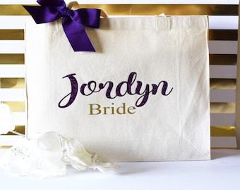 personalized tote bag, Bridesmaid Gift-Wedding Favors, bride tote bag, bridesmaid tote, canvas tote bag, team bride gift, bachelorette gift
