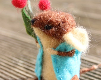 Needle felted souris(mouse)