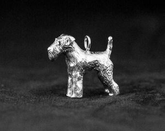 Sterling Silver Welsh Terrier Charm, Silver Welsh Terrier Pendant