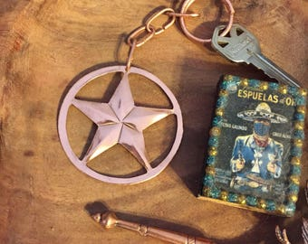 Pure Copper Star Keychain