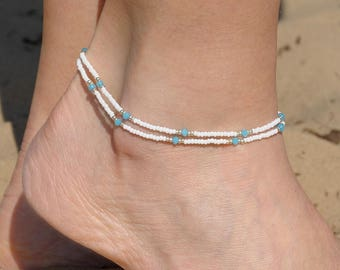 Beaded Anklet Delicate Anklet Dainty anklet Beach anklet Women anklets Summer ankle bracelet simple anklet for her girlfriend gift|for|her