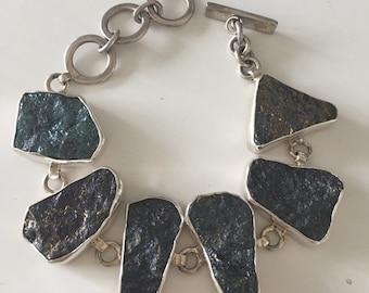 Sterling Silver Bracelet And 'Druzy like Stones'